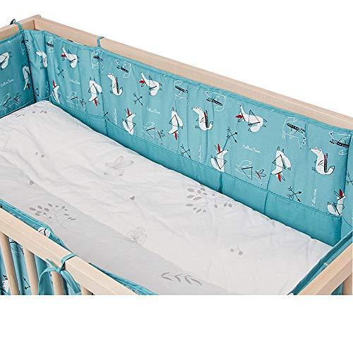 Barrière de lit tissée pour bébé berceau anti-collision couvre-lit de lit d'enfant double face pare-chocs 250 * 30cm A
