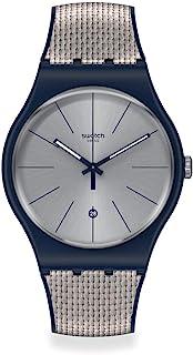 Swatch New Gent Swiss Quartz Silicone Strap, Blue, 20 Casual Watch (Model: SUON402)