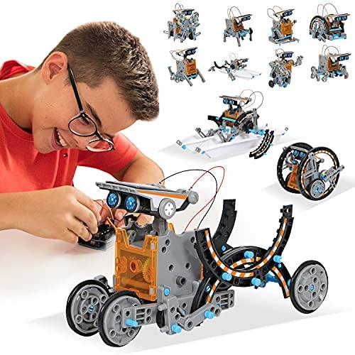 Juguetes STEM Kit de Tobot Solar Kits de Ciencia Educativa 12 en 1 Aprendizaje de Ciencia...