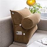 QZENENE Almohada de cuña para cama con almohada ajustable para el cuello de 45,7 x 45,7 x 20,5 cm,...