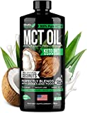 Organic MCT Oil for Brain, Energy & Weight Loss Boost - Made in USA - 100% Natural Pure Coconut Oil - Premium Metabolism Booster & Workout Enhancer - Keto & Paleo Friendly - Cruelty-Free - 16 oz