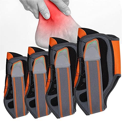 Frauen Männer Knöchel Stabilisator Funktionsknopf Typ Knöchel Stabilisator Knöchelschutzstütze Korrektorband Haltung Korrektor Knöchel Fußorthese Schmerzlinderung (Color : Gray,...