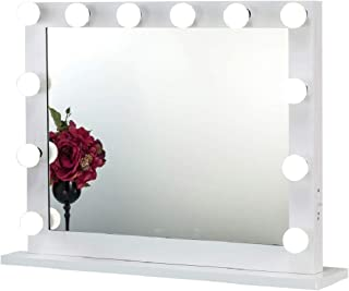 Joyful Store Hollywood Makeup Mirror,Wall Mounted Dressing Illuminated Cosmetic Mirror,Backstage Studio Tabletop Vanity Lighting Mirror, White (6580)