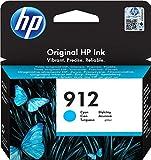 HP 912, 3YL77AE, Cartuccia Originale Standard, 315 Pagine, Compatibile con Stampanti a Getto di Inchiostro OfficeJet Pro Serie 8010 e 8020, Ciano