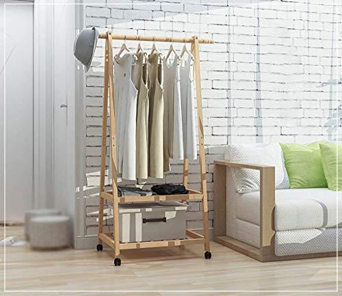 N/Z Home Equipment Coat Rack Solid Wood Bedroom floorbeech Hangers Removable Wooden Coat Rack Shoe Rack