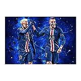 Neymar und Mbappe Fußball Sport Poster Leinwand Poster