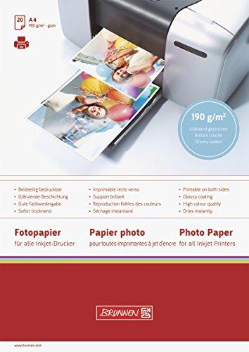 BRUNNEN 1061641 Fotoalbum-Einlegeblatt Fotopapier