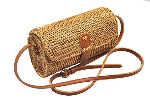 HAAN Handwoven Long Oval Rattan Bag -$23.49(36% Off)