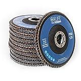 CCLIFE 10PCS Discos Abrasivos Profesionales Disco de Láminas discos abrasivos metal madera amoladora para hierro ø125mm, P60/80, Color:P60
