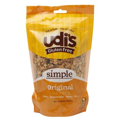 Udi's Gluten Free Granola, Original 12 OZ (Raisins + Banana Chips + Honey + Nuts) (Pack of 1)