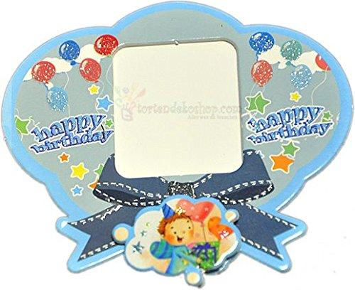 Blau Happy Birthday Magnet Fotorahmen