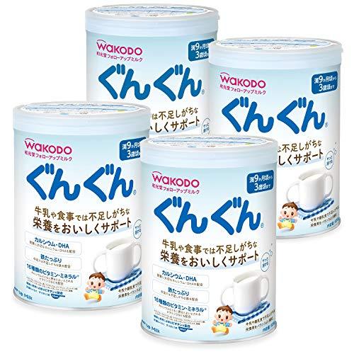 和光堂 フォローアップミルク ぐんぐん 粉ミルク [満9ヶ月頃から3歳頃] 830g×4缶 ベビーミルク