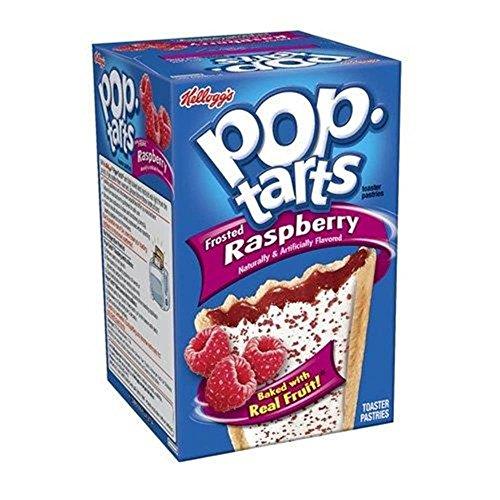 Kelloggs Pop-Tarts Blueberry Cherry Raspberry Chocolat Smore Cookies and Creme Cinamon Rolls Chip Confetti Cupcake Brown Sugar Fugde Sunday Grape Strawberry (Raspberry Frosted)
