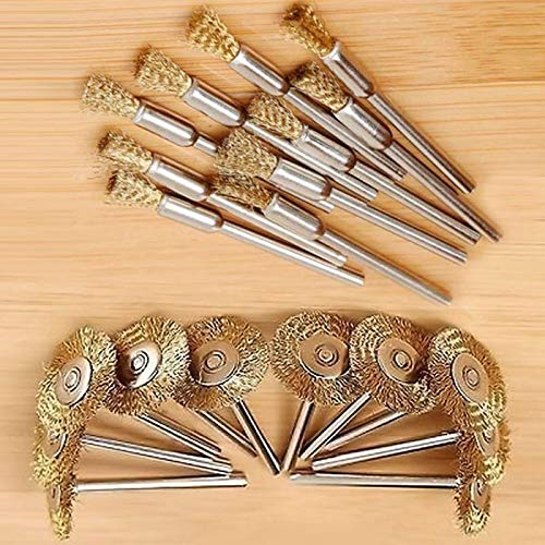 ABST32029 Abrasive Mini Wire Wheel Brushes Brass Cup Rust Deburring Decontamination Abrasive Brush Remove Paint