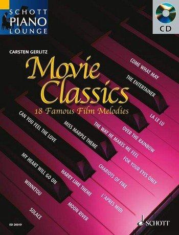 Schott Piano Lounge: MOVIE CLASSICS (+CD) mit Bleistift -- 18 bekannte Filmmelodien u.a. aus DER DRITTE MANN und DR. SCHIWAGO in klangvollen, mittelschweren Arrangements für Klavier von Carsten Gerlitz (Noten / sheet music)