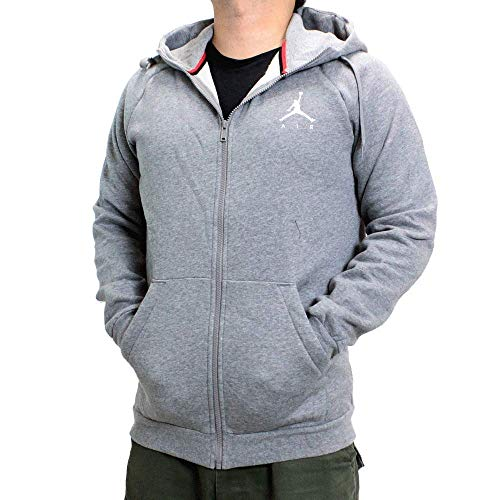 Nike Herren M J Jumpman Fleece FZ Sweatshirt, Carbon Heather/Black, XS