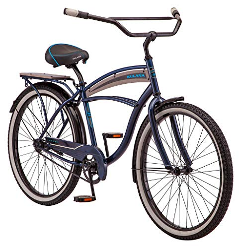 Kulana Lakona Wave Adult Beach Cruiser Bike, 26-Inch Wheels, Single Speed, Blue (R7123AZ)