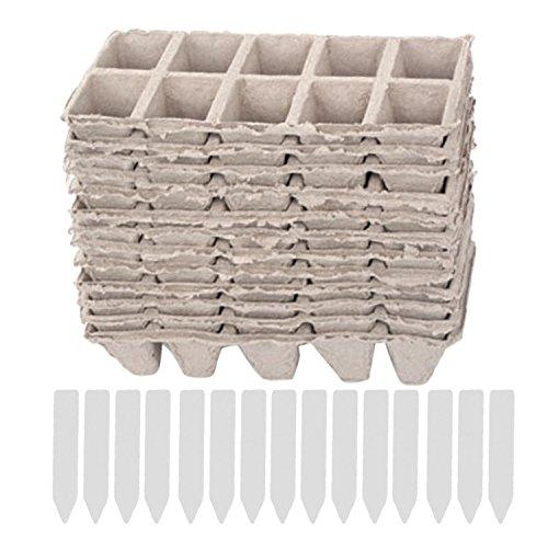 10 tiras de macetas cuadradas de la turba planta de la planta de semillero tazas de las guarderías...