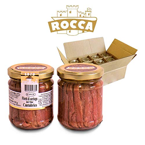 Rocca Valtellina - FILETTI DI ACCIUGHE DISTESE IN OLIO DI OLIVA