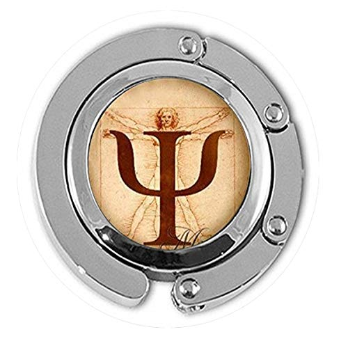 Halskette mit PSI-Symbol, Psychologie-Anhänger, Schmuck, Geschenk für Psychologen, da Vinci, Foto, Anatomie, Bibel-Zitat