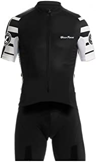 Uglyfrog Men's Cycling Skinsuit - Short Sleeves and Short Legs with Gel Pad