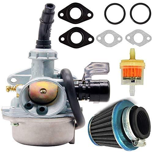 PZ19 Carburetor with Fuel Filter 35mm Air Filter for ATV Go Kart PZ19 19mm Carburetor 50cc 70cc 90cc 110cc 125cc ATV Dirt Pit Bike Taotao Honda CRF Carburetor, PZ19 Carburetor