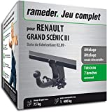 Rameder Pack, attelage rotule démontable + Faisceau 7 Broches Compatible avec Renault Grand SCÉNIC III (136065-08148-1-FR)