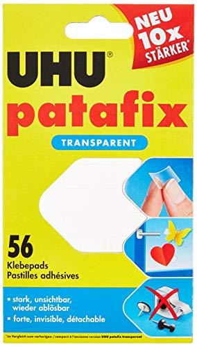 UHU 48815 - Cuscinetti adesivi Patafix, rimovibili, trasparenti