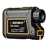SNDWAY Golf Rangefinder 1093 Yards Distance 7X Measurement Range Finder with Flagpole Locking Range Speed Scanning Mode IP54 Waterproof for Golf and Hunting with Speed Scan