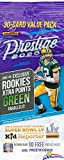 2020 Panini Prestige NFL Football EXCLUSIVE Factory Sealed JUMBO FAT PACK with 30 Cards including 4 Rookies & 6 Inserts/Parallel! Look for RCs & Autos of Joe Burrow, Tua Tagovailoa & More! WOWZZER!