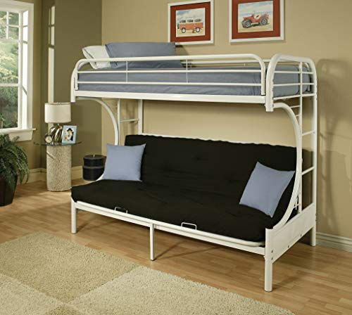ACME Furniture 02091W-W Eclipse Futon Bunk Bed, Twin/Full, White