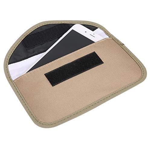 Bolsa de señal portátil segura y duradera de alta calidad Práctica bolsa antirradiación Viaje de negocios para la oficina en casa(Khaki)