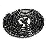 SUPERTOOL - Kit organizzatore per cavi a spirale con fascetta a spirale, morsetto incluso ...
