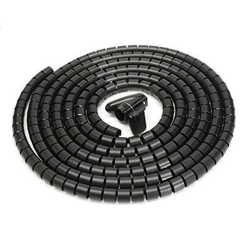 Envoltura para cables SENRISE - Tubo de encuadernación espiral cortable, organizador de...