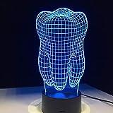 Fantástica ilusión Dientes luz de Noche acrílico Colorido Infantil Dormitorio lámpara de Mesa lámpara Fresca como Regalo para Dentista