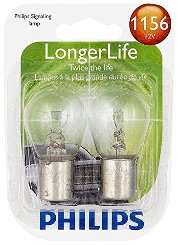 Philips 1156LLB2 LongerLife Miniature Bulb, 2 Pack