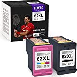LEMEROUtrust 62XL Reacondicionado Cartuchos de Tinta Compatible para HP 62 XL para HP OfficeJet 5640 5646 5740 5742 5744 5745 5746 eAIO Envy 7640 7645 5642 5644 eAIO Impresora (Negro/Color)