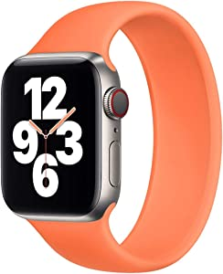 Strawberry Apple Pie - Solo Loop Band Compatible with Apple Watch Bands Replacement Sport Strap Silicone Wristband Men Women for Iwatch Series 6/SE/5/4/3/2/1 40mm 38mm Kumquat 38mm 40mm Size 6