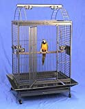 """Best Quality and spacious all-metal playtop large bird cage loaded with features at an amazing price! Outside Dimensions: 38""""W x 28""""D x 64""""H (Include Seed Guard and Play Stand). Inside Dimensions: 32""""W x 22""""D x 35""""H(Not Include Seed Guard and Play St..."""