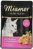Miamor Katzenfutter Feine Filets Thunfisch & Krebsfleisch 100 g, 24er Pack (24 x 100 g)