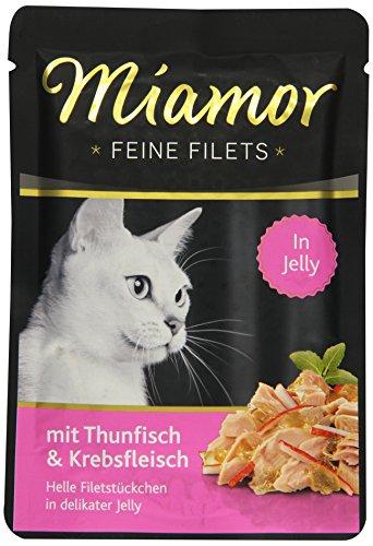 Miamor Katzenfutter Feine Filets Thunfisch & Krebsfleisch 100 g, 24er Pack (24 x 100g)