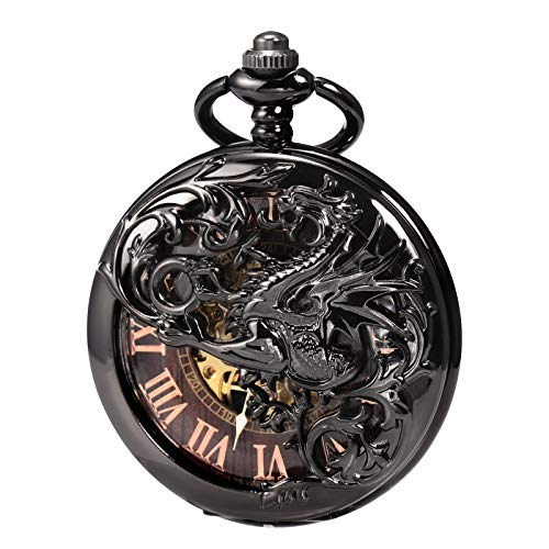 Reloj de bolsillo unisex Treeweto con cadena, analógico, cu