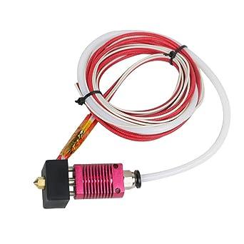 MK8 Hot End kit CR-10//10S Printer 1.75mm 0.4mm Nozzle Aluminum Heating Block UK