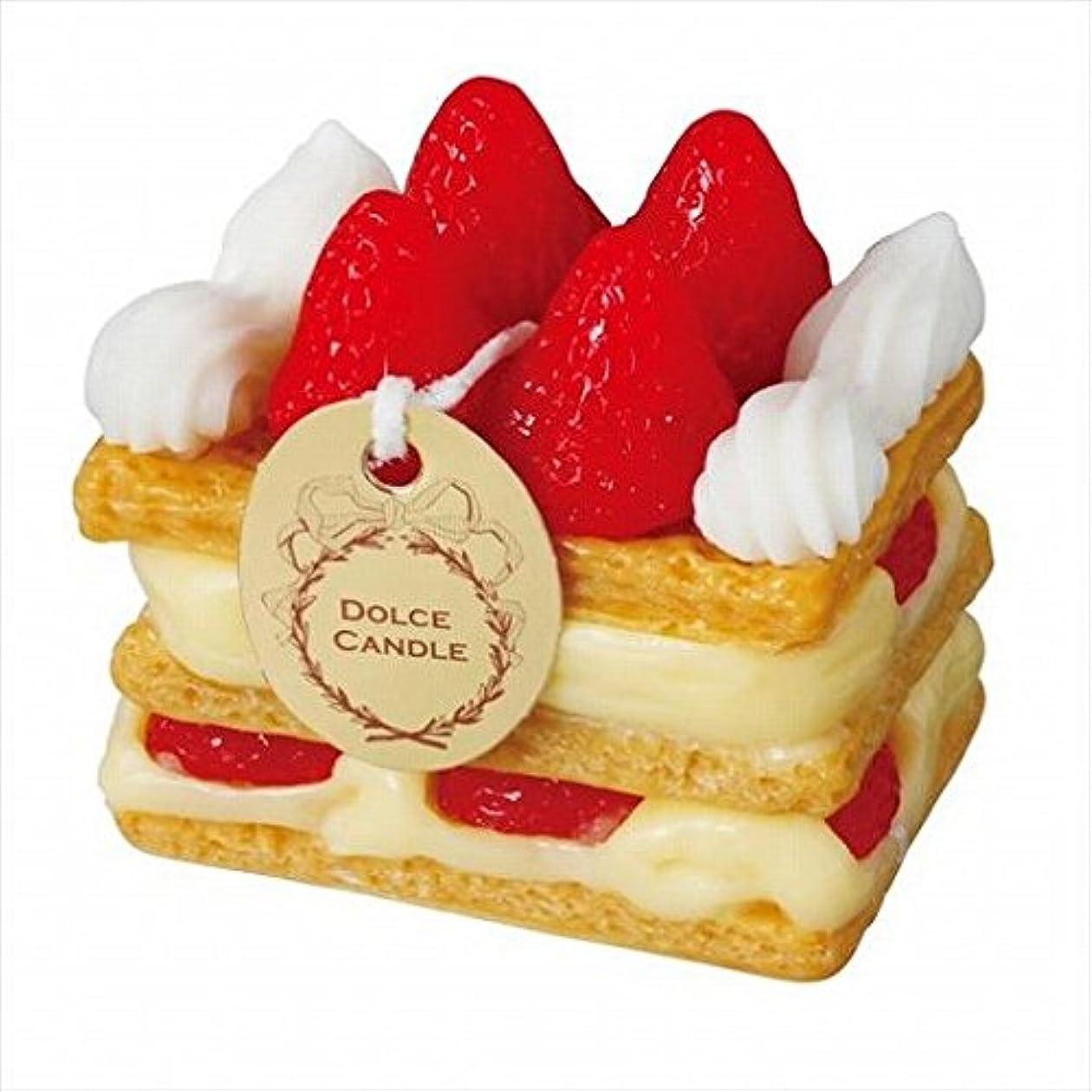 ストレンジャー木製不毛sweets candle(スイーツキャンドル) ドルチェキャンドル 「 ミルフィーユ 」 キャンドル 60x40x60mm (A4340510)
