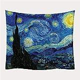 Bmakup Tapiz Pinturas de Van Gogh Tapestry Impresión Tapices Decorativos Arte de la Pared Tela de Fondo,D,150x130A