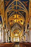 Awttmua Puzzles 1000 Piezas Interior Basílica del Sagrado Corazón Notre Dame Puzzles De Madera para Adultos Niños Adolescentes