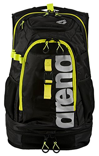 Arena Fastpack 2.1 Mochila  Unisex Adulto  Negro  Black Fluo Yell   36x24x45 cm  W