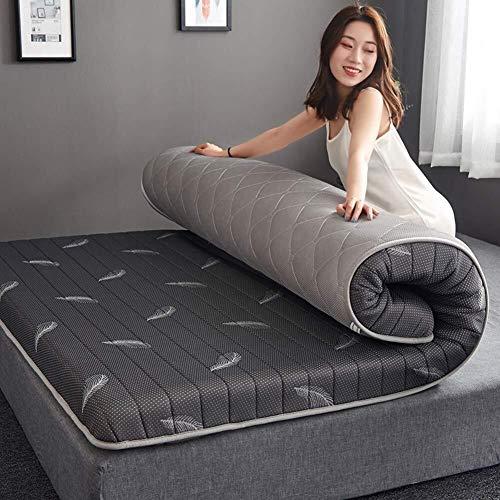 Thicken matras van traagschuim, tattoo of matras, hypoallergeen, voor matras, futon, opvouwbaar, mat, voor meditatie, kampeertochten 180x200x6cm Grijs B