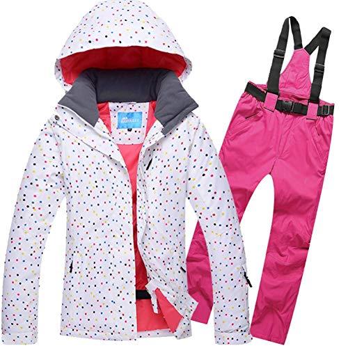 BCOGG Frauen Ski Jacke + Hosen Winddicht Wasserdicht Outdoor Sport Tragen Winter Super Warme Kleidung Skianzug Weibliche S