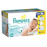 Pampers Sensitive Wipes 12x Pack 744